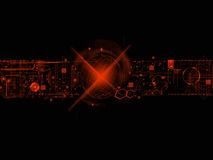 Orange and Black Tehnology Abstract Background Stock Photography