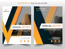 Orange black triangle Brochure annual report Leaflet Flyer template design, book cover layout design, abstract business. Presentation template, a4 size design vector illustration