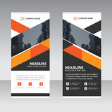 Orange black triangle Business Roll Up Banner flat design template  Stock Photography
