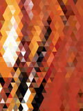 Orange and black triangles background Stock Image