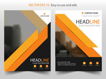 Orange black Vector Brochure annual report Leaflet Flyer template design, book cover layout design, abstract business presentation. Template, a4 size design Royalty Free Stock Photography