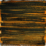 Orange and black watercolor abstract on canvas stock image