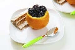 Orange and blackberry Stock Photo