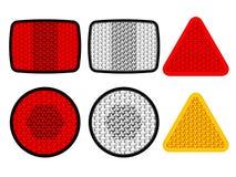 Orange blanche rouge de réflecteurs de sécurité Photos stock