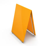Orange blank billboard for your design Royalty Free Stock Photo