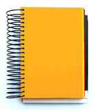 Orange blank notebook Royalty Free Stock Photography