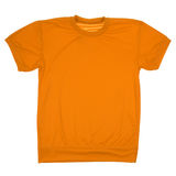 Orange blank t-shirt (Clipping path) Stock Photo