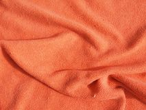 Orange blanket Royalty Free Stock Image