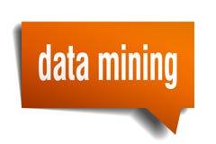 Orange Blase der Sprache 3d des Data - Minings lizenzfreie abbildung