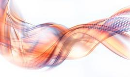 Orange - blauer Halbtoneffektgeschäftshintergrund vektor abbildung