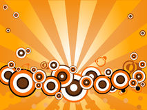 Orange Blazing circles Royalty Free Stock Images
