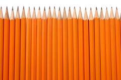 Orange Bleistifte Lizenzfreie Stockfotos