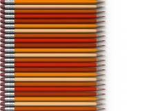 Orange Bleistifte Stockfotos