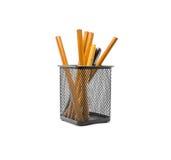 Orange Bleistifte Lizenzfreie Stockfotografie