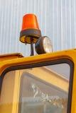 Orange Blinklicht auf einer Gabelstaplernahaufnahme Lizenzfreie Stockfotos