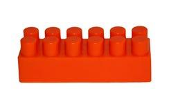 Orange block. On white background Stock Photos