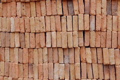 Orange Block brick by layer abstract background Stock Images