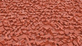 Orange block glass with reflection skylights. 3d illustration rendering for background textures Stock Photos