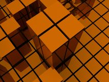 Orange block structures Royalty Free Stock Photos