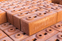 Orange block wall could be used for background texture Royalty Free Stock Photo
