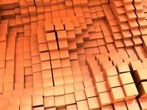 Orange blocks background. Abstract 3d illustration of orange blocks background Royalty Free Stock Photo