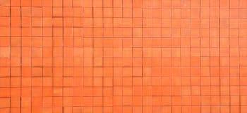Orange Blockwand Lizenzfreies Stockfoto