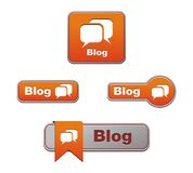 Orange blog buttons Royalty Free Stock Photo