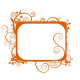 Orange blom- inramar royaltyfri illustrationer