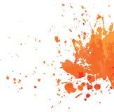 Orange blot. On white, vector illustration Stock Photos