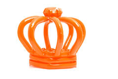 Orange blown up crown Royalty Free Stock Photo