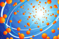 Orange and Blue Stock Image