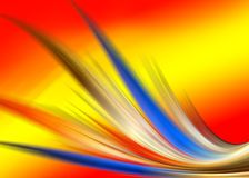 Orange blue abstract. Composition with flowing design stock illustration