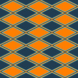Orange and blue abstract pattern with rhombus Stock Image