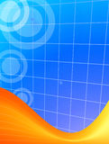 Orange and blue background Stock Photo