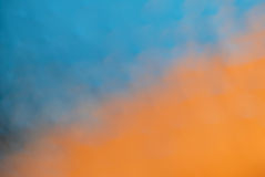 Orange & Blue Background. Stock Photo