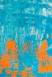 Orange and blue background. Orange and blue grunge, textured background with copyspace Royalty Free Stock Image