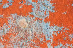 Orange and blue background texture. Orange and blue painted background texture on wall Royalty Free Stock Photos