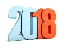 Orange and blue 2018 Royalty Free Stock Photo