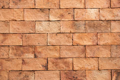 Orange blue brick wall texture and background. Stock Images