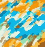 Orange blue and brown dirty painting background. Orange blue and brown dirty painting abstract background Royalty Free Stock Photo