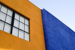 Orange and Blue buildings Stock Photos