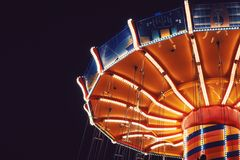 Orange and Blue Carousel Stock Photography