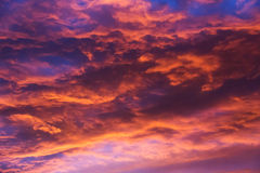 Orange blue cloud sky 2 Royalty Free Stock Image