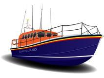 Orange and Blue Coastguard Lifeboat Stock Photography
