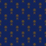 Orange and Blue Damask Seamless Pattern Royalty Free Stock Image