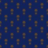 Orange and Blue Damask Seamless Pattern. Damask seamless pattern with orange design over blue background royalty free illustration