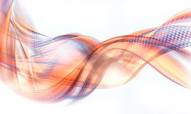 Abstract orange and blue swirl. Design with white background Stock Images