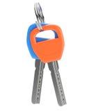 Orange and blue keys Royalty Free Stock Images