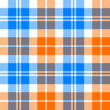 Orange and blue light tartan seamless pattern Royalty Free Stock Image