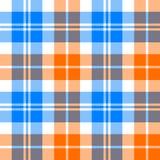 Orange and blue light tartan seamless pattern Royalty Free Stock Image